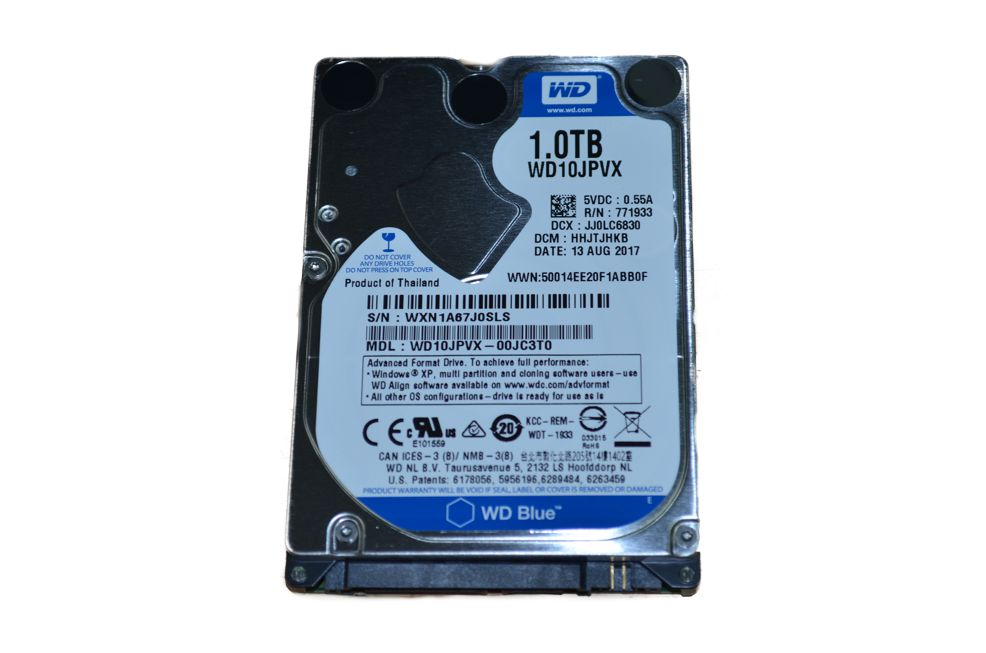 "Жесткий диск 2.5"" Western Digital Blue,  1 TB ,HDD WD10JPVX, 5400rpm, 8MB"